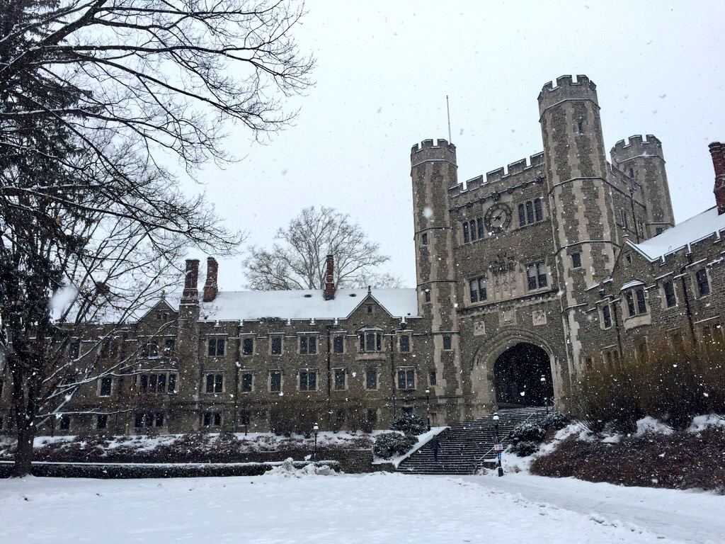 Blair Hall in the Winter